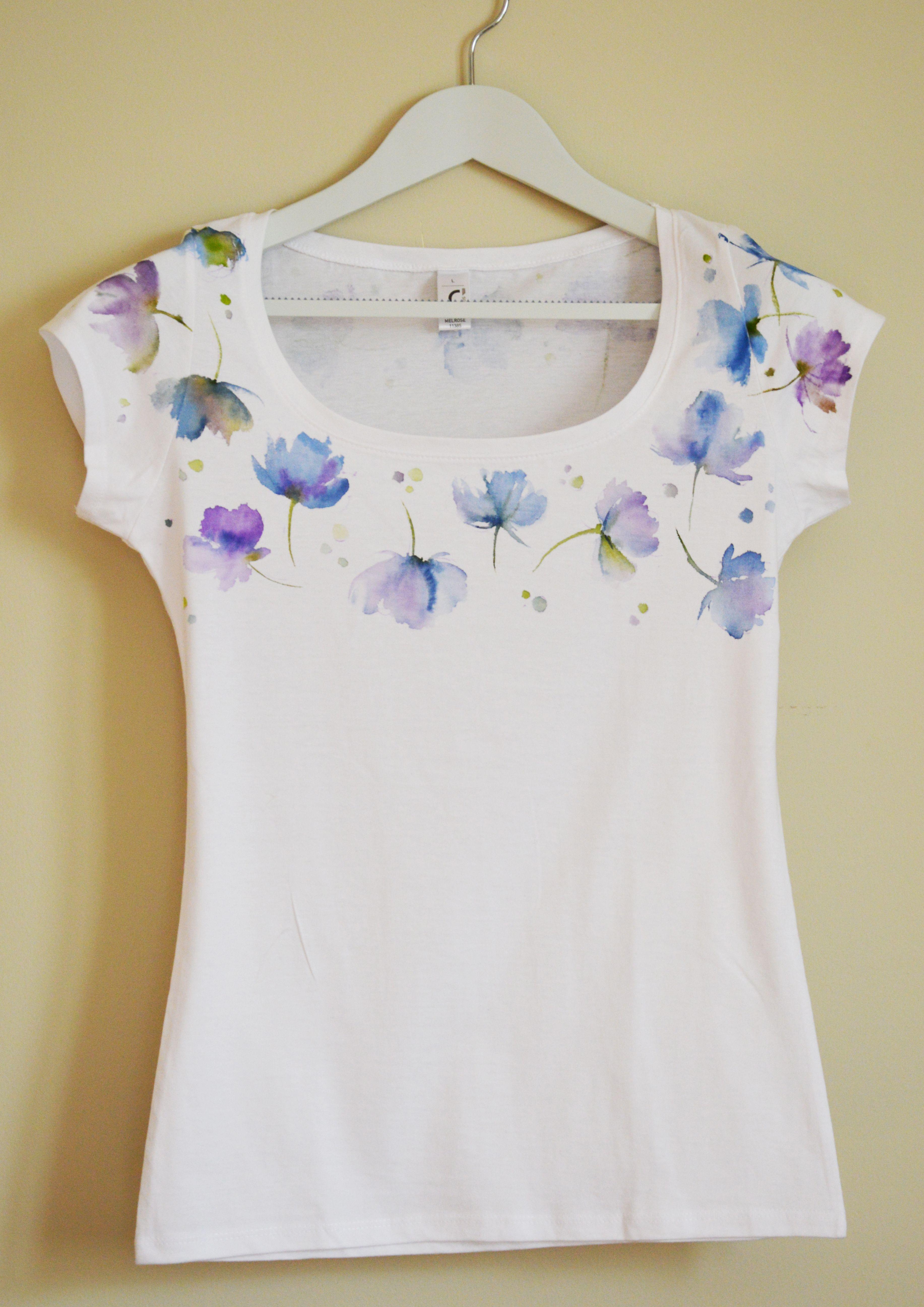 blueflowers flowertee silkandmorehu tshirt tees