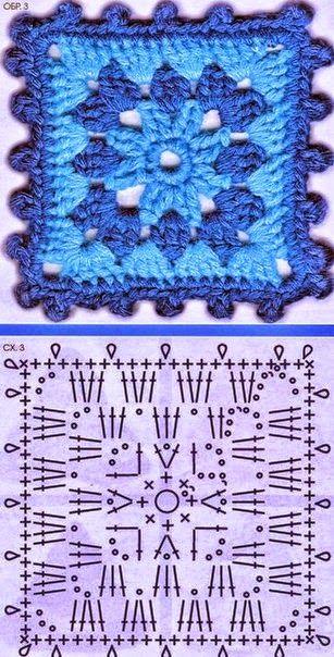 Diagramas de grannys crochet 6 modelos diferentes   Patrones de ...