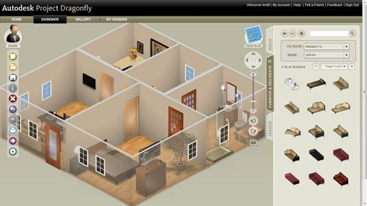AutoDesk DragonFly Online 48D Home Design Software Room Layout Mesmerizing 3D Home Interior Design Online