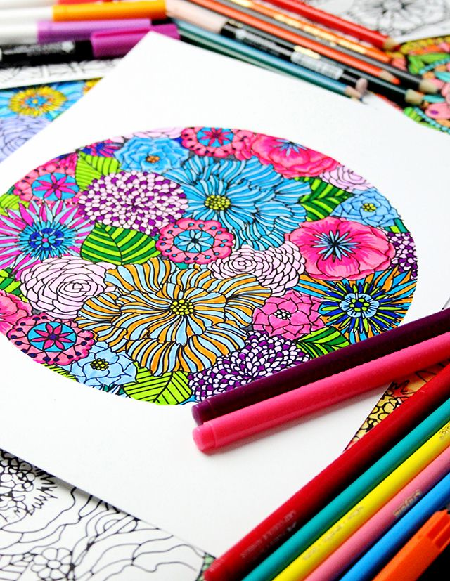 A free coloring download from Alisa Burke! | alisa likes to create ...