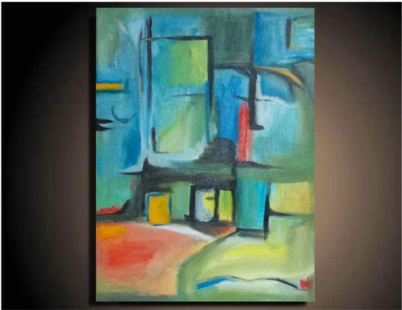 36 X 24 Original Painting Canvas Modern Wall Art Etsy Etsy Wall Art Painting Modern Art Abstract