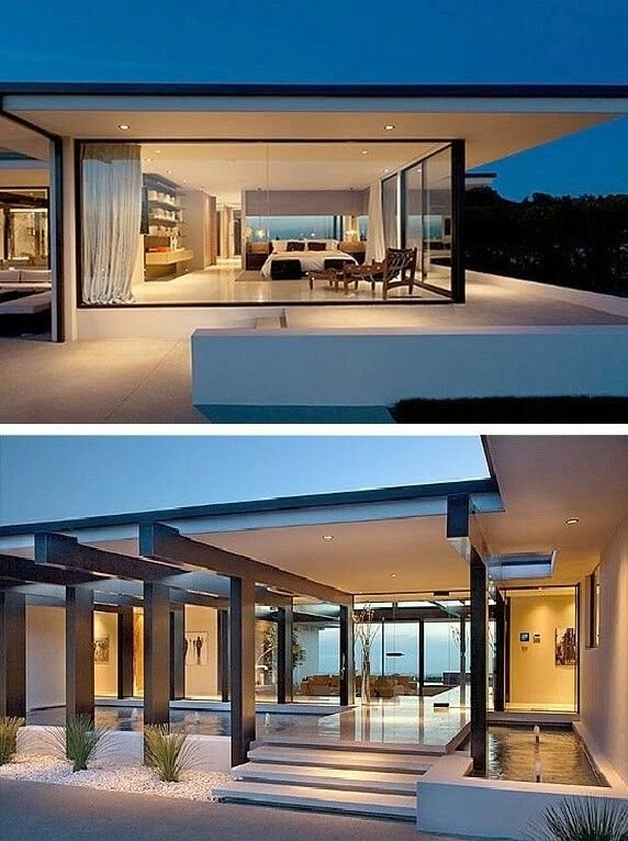 Modern, elegant interior and exterior. Main EntranceVilla DesignGlass ...