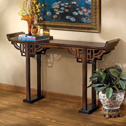 Arbaaz Kale Solid Wood Console Table Asian Home Decor Asian