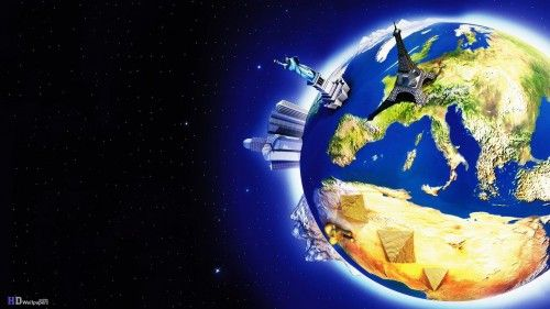 World map 3d space logo hd wallpaper funyari pinterest hd world map 3d space logo hd wallpaper gumiabroncs Gallery