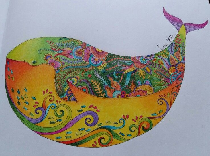 My Johanna Basford Whale Lost Ocean Coloring Book Johanna Basford Coloring Basford Coloring