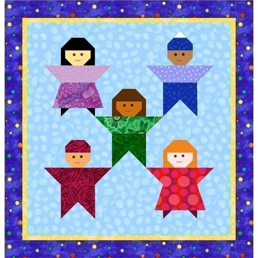 Little Peeps kids quilt block, paper piecing quilt patterns, kids ... : paper quilt patterns for kids - Adamdwight.com
