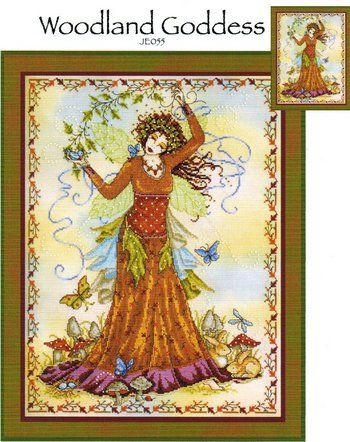 COUNTED CROSS STITCH CHART WOODLAND FAIRY # 2
