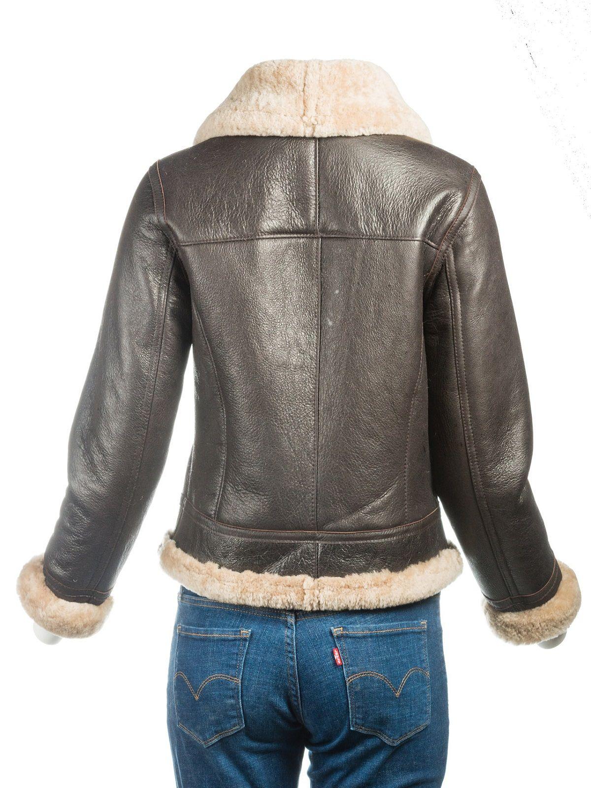 B3 Bomber Sheepskin Women Jacket Leather jackets women