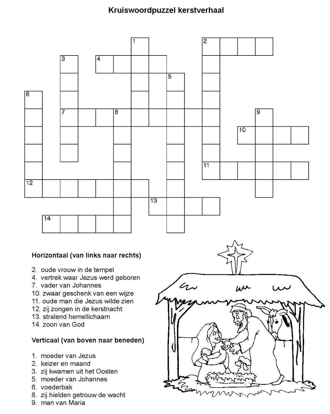 Kerst Werkboek Met Kerstverhaal Uit Kinderbijbel En