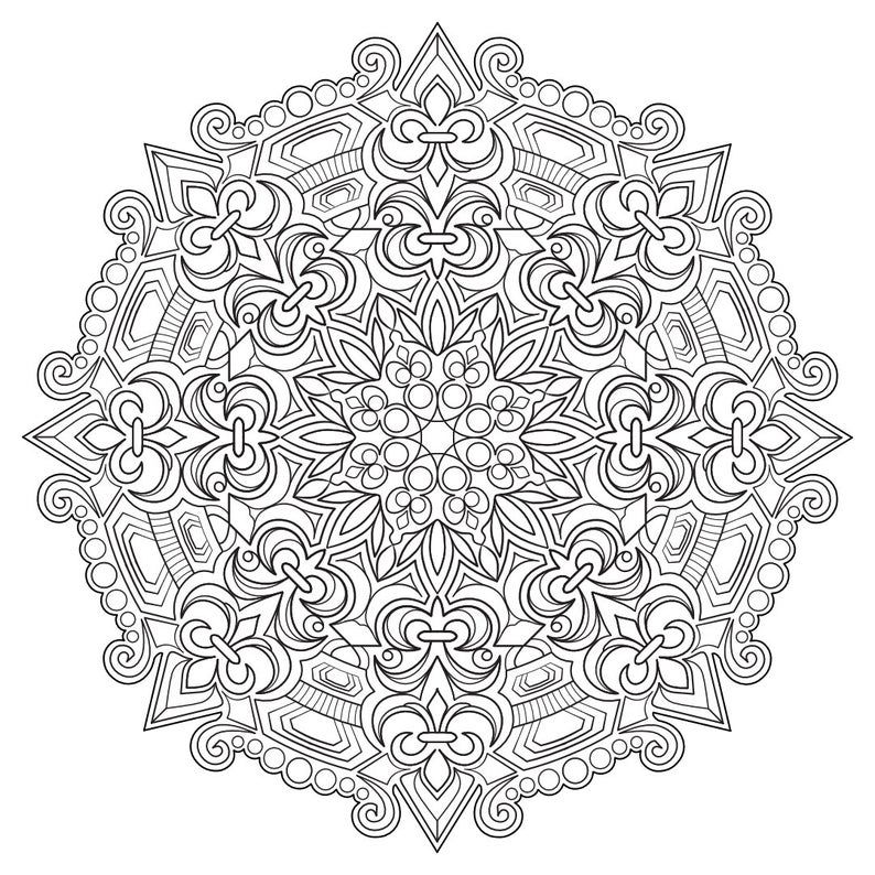 Mandala Madness Coloring Book No 4 5 Printable Pdf Coloring Etsy In 2020 Coloring Books Mandala Coloring Pages Abstract Coloring Pages