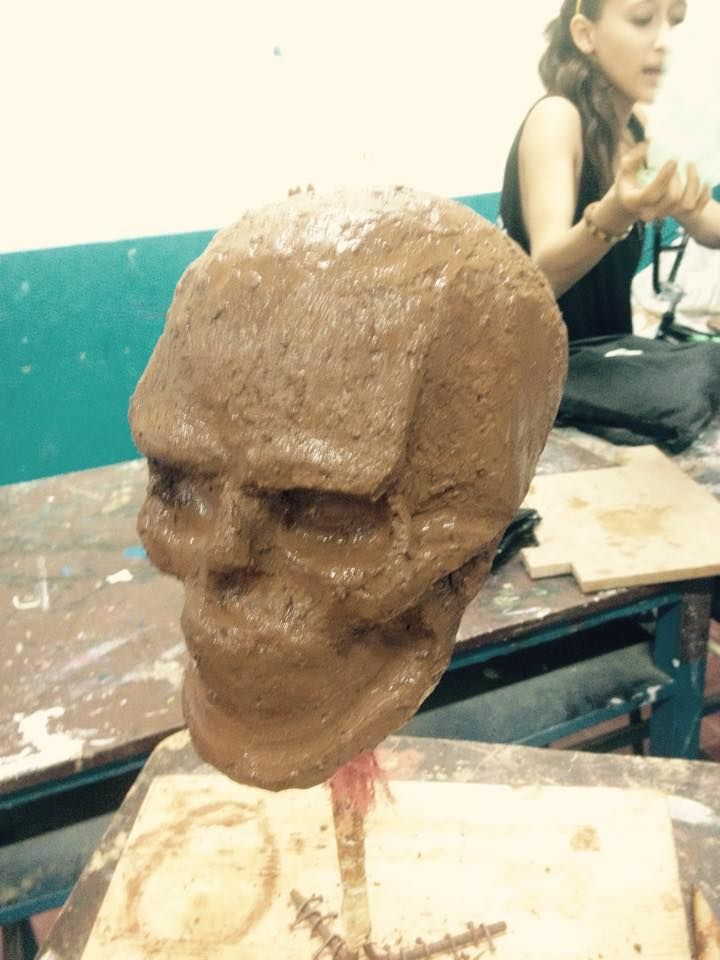 En clase de escultura