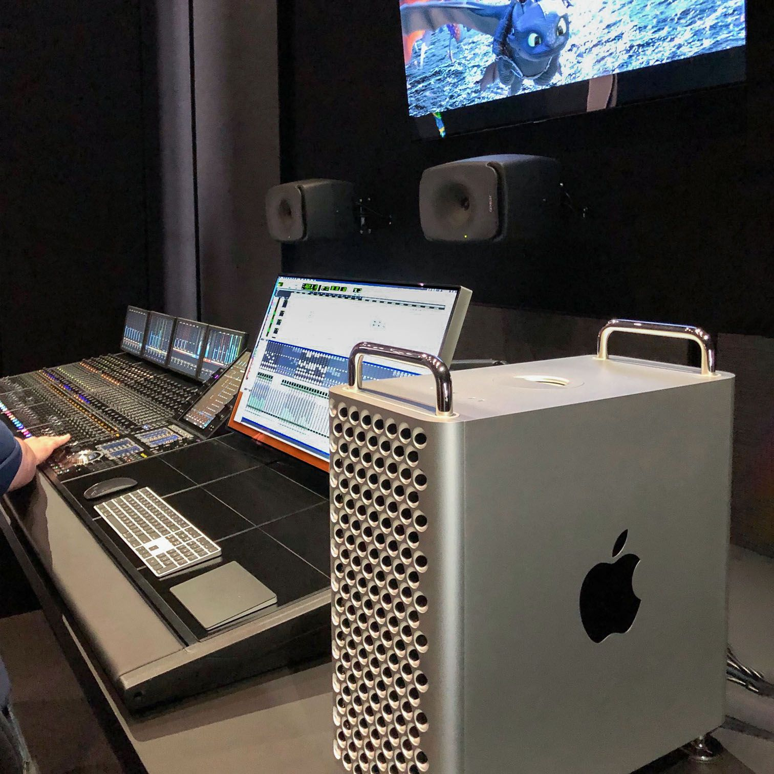 As Seen At Wwdc19 The New Mac Pro With 6 Hdx Cards Powers The 192 Khz Pro Tools Music Mix Of Recording Studio Design Home Studio Music Home Recording Studio