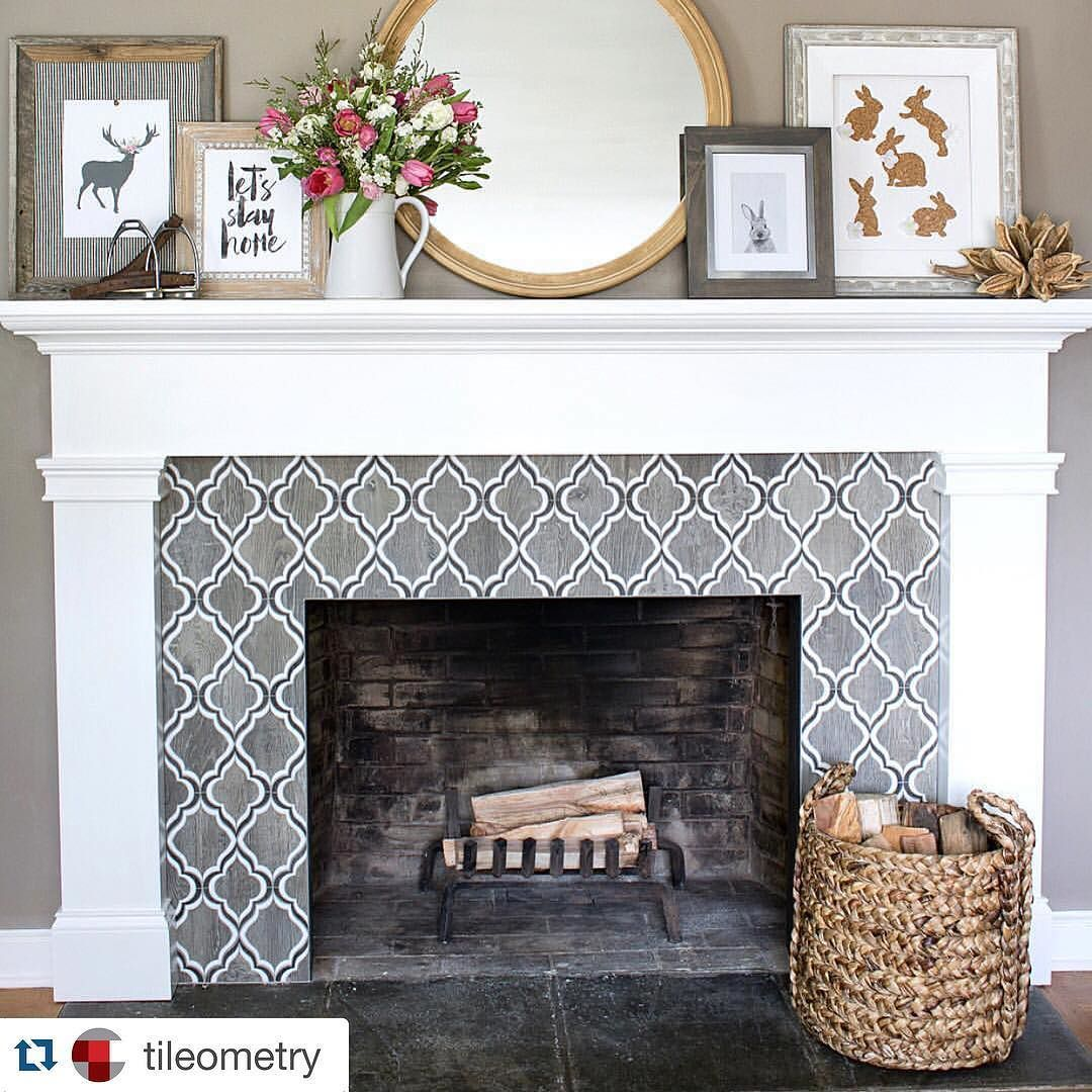 27 stunning fireplace tile ideas for your home fireplace living rh pinterest com