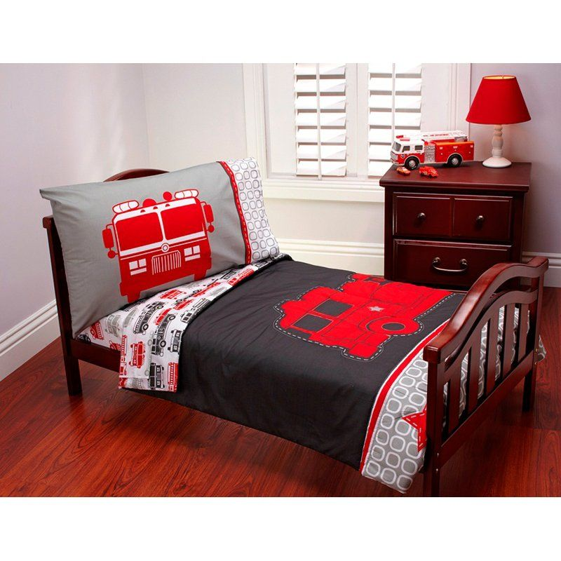 Have To Have Itcarters Fire Truck 4 Pc Toddler Bedding Set Captivating Toddler Bedroom Set Decorating Inspiration