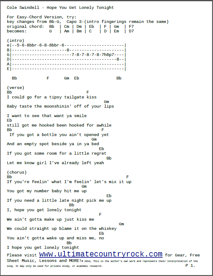 Best I Hope You Get Lonely Chords Image Collection