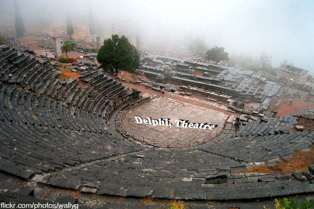 #Delphi,  a modern and archaeological site in Greece.