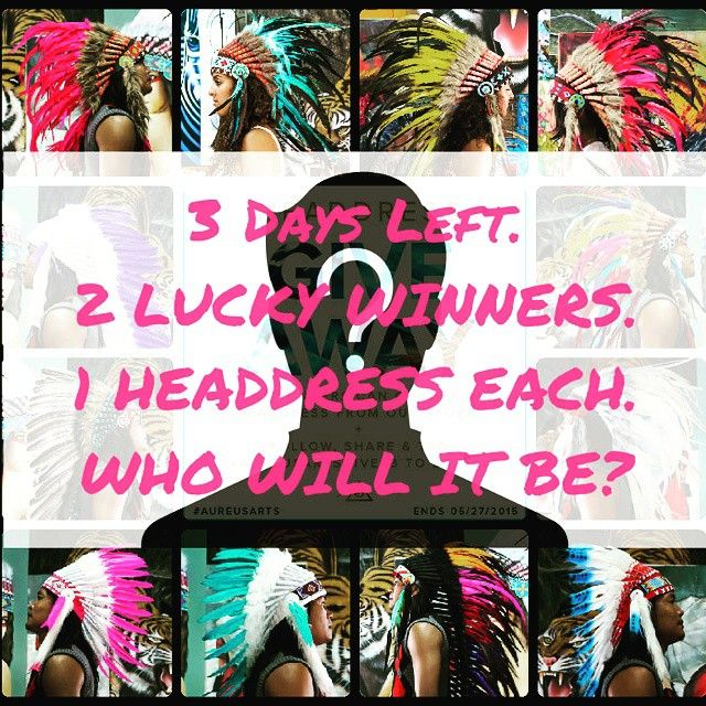 There's only 3 days left!!! On the 27th 2 LUCKY WINNERS will win. If you haven't entered yet, make sure to place your entry now!  Please remember there is 1 maximum entry per person.  Don't miss out on your chance to win your choice of ANY 1 headdress from our store!  #aureusarts #aureusartgives3 #giveaway  #headdress  #edm #ootd #lucky #winner #shop link in profile.