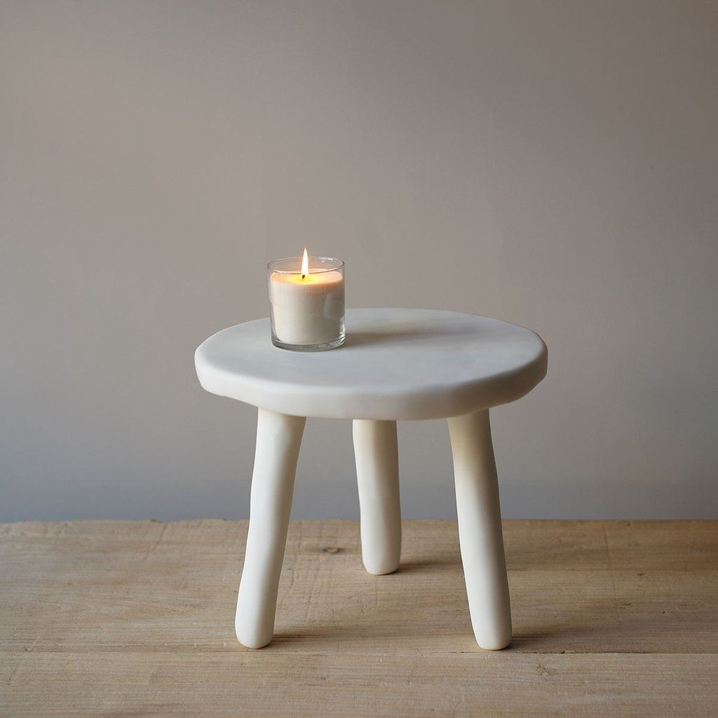 White Resin Side Tables Table