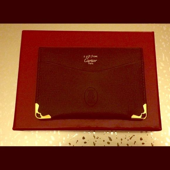 Authentic cartier business card holder business card holders authentic cartier business card holder reheart Image collections