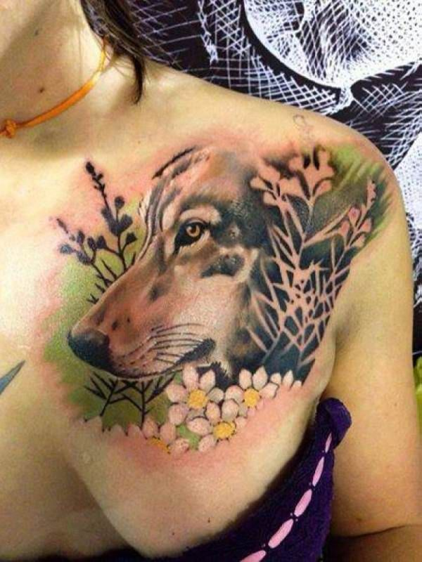 If you want to make Tattoo dog in landscape chest yourself and you are looking for the suitable design or just interested in tattoo, then this site is for you.