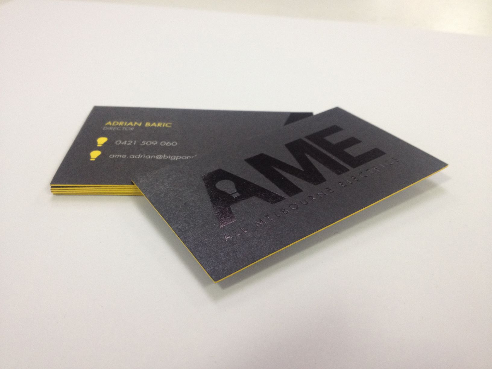 Ame business cards printed recently by snap printing geelong love ame business cards printed recently by snap printing geelong love the yellow detail reheart Images