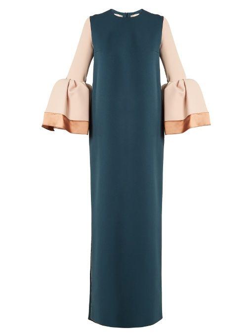 Litani bell-cuff stretch-crepe dress Roksanda Ilincic Gkcwy9nO