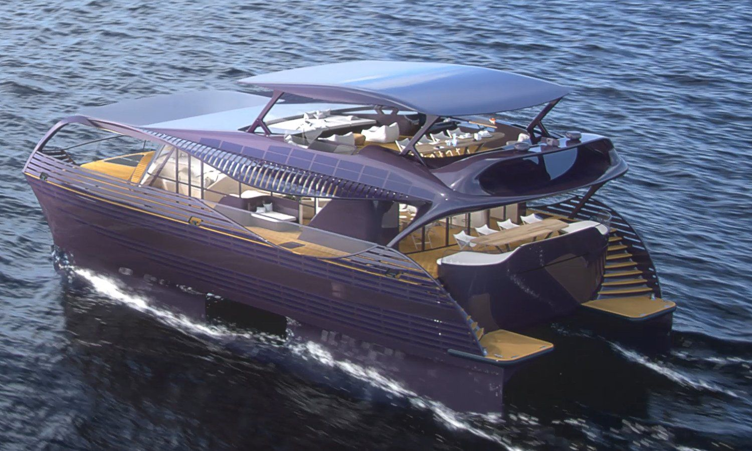 Pin By C Cato On Electric Solar Craft Solar Yacht Catamaran Yacht Yacht Design