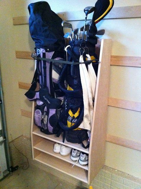 Chad S Work Golf Bag Storage, Golf Bag Garage Storage