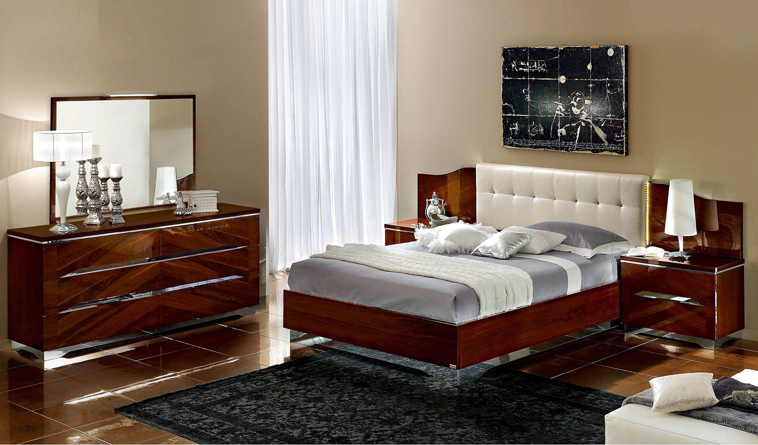 Italian Modern Contemporary Queen Size Bed Matrix Bedroom