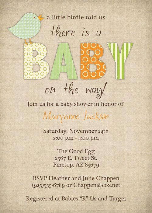 Bird Baby Shower Invitations Little Bird Gender Neutral Etsy Baby Shower Invites Neutral Baby Shower Invites For Girl Bird Baby Shower