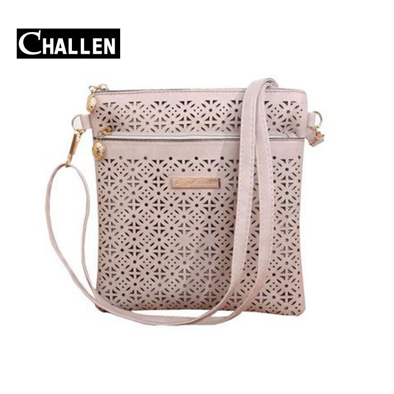 $9.36 (Buy here: http://appdeal.ru/4aby ) 2016 Luxury Messenger Women Bag Hollow bolsa bolso Designer Handbags Leather Shoulder Bag Female Small Crossbody Bags For Women for just $9.36