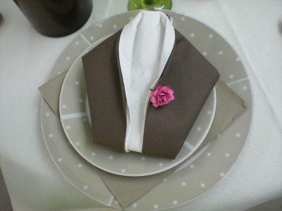 Pliages de serviettes facile serviettage pinterest - Serviette de table ...