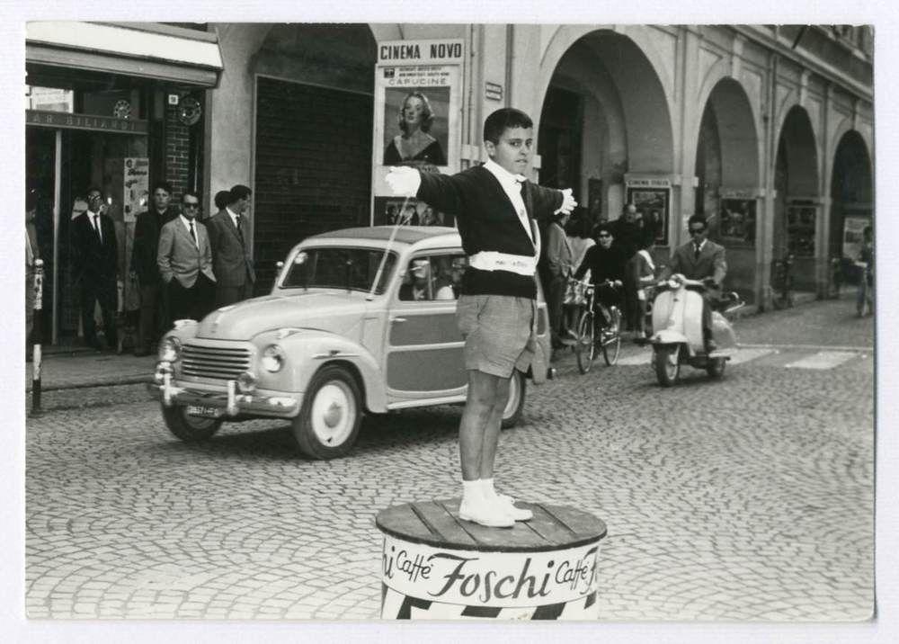 CESENA-I VIGILI URBANI..NOVELLI (F 74) AUTO-VECCHIA FOTO D EPOCA/OLD PHOTO 1961