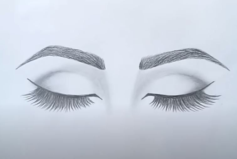 How To Draw Closed Eyes By Pencil For Beginners Easy Eye Drawing Pencil Drawings For Beginners Closed Eye Drawing
