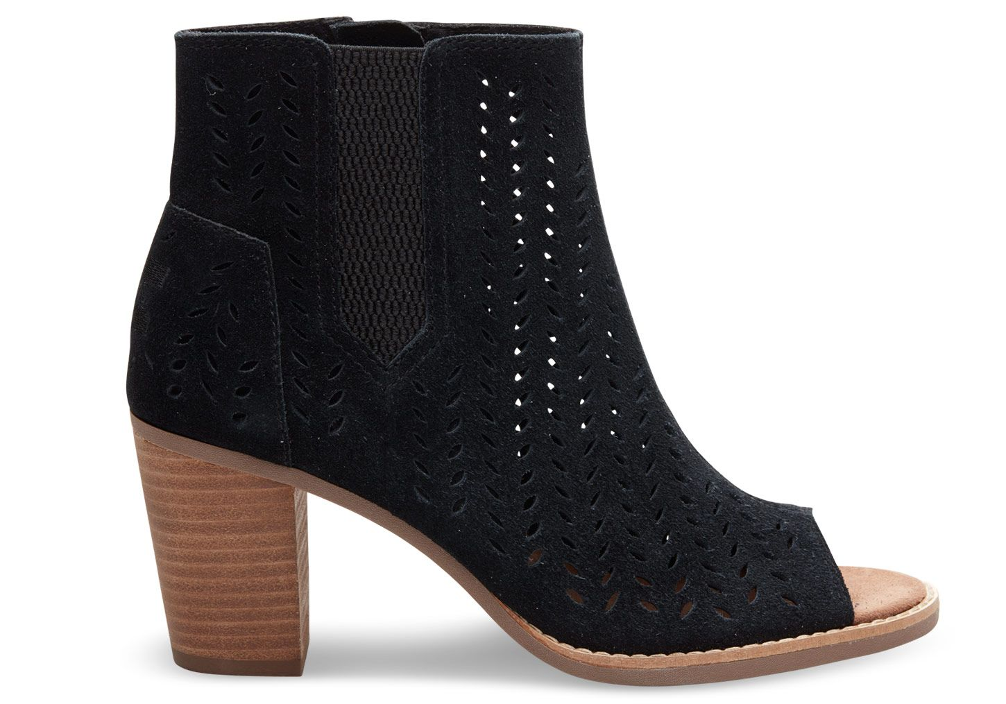 c4b1ff25803 Need size 7 Black or Gray Suede Perforated Leaf Women s Majorca Peep ...