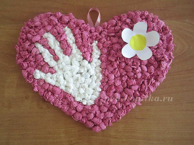 DIY Heart with hand and flower