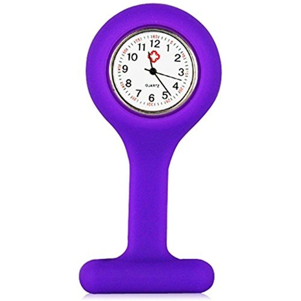 TRIXES Montre à gousset d'infirmière quartz en silicone avec broche violet 2017 #2017, #Montresdepocheetgoussets http://montre-luxe-femme.fr/trixes-montre-a-gousset-dinfirmiere-quartz-en-silicone-avec-broche-violet-2017/