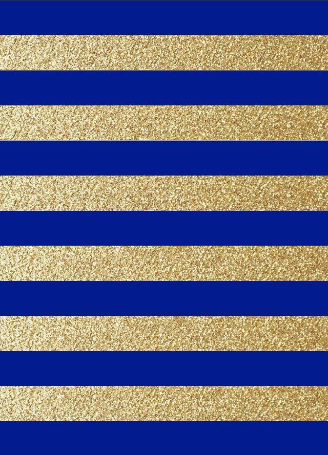 Blue Gold Pattern Wallpaper Iphone Neon Cellphone Wallpaper