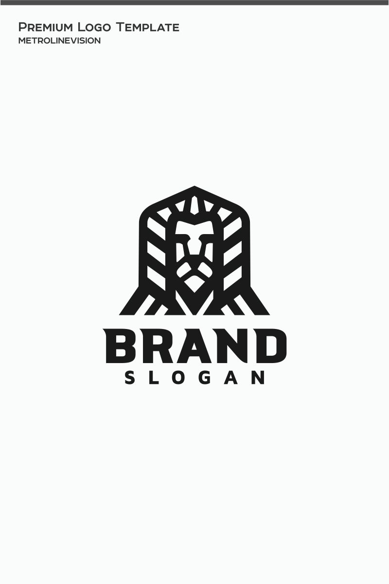 Lion brand logo template brand lion template logo
