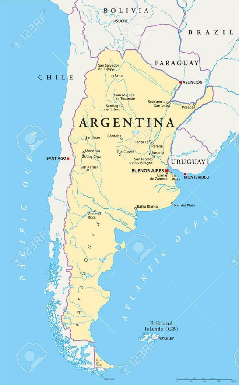 mapa de argentina con fronteras - Buscar con Google | Mapa de argentina,  Argentina, Buenos aires