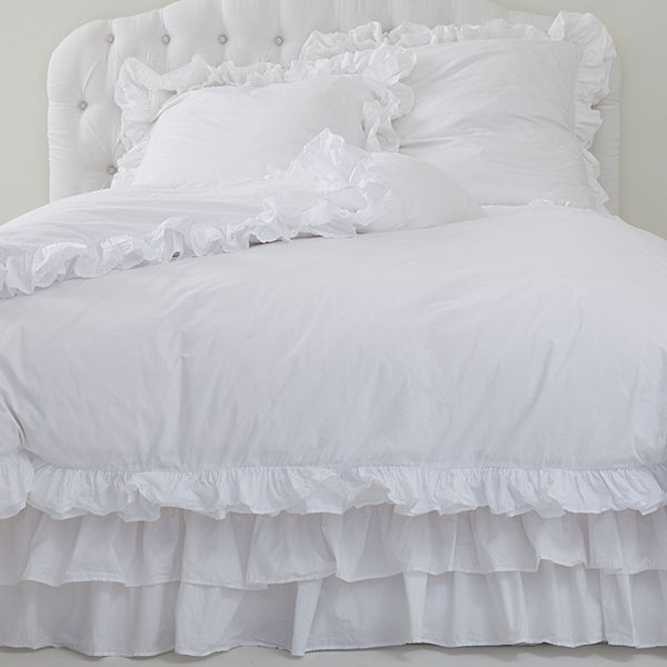 I Will Always Love Solid White Shabby Chic Bedding I
