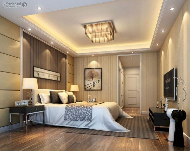 40 Incredible Master Bedroom Design Ideas Page 12 Of 40 Bedroom False Ceiling Design Ceiling Design Living Room Ceiling Design Bedroom