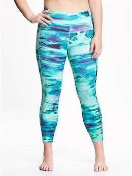 69d16d880102c Patterned Compression Plus-Size Leggings