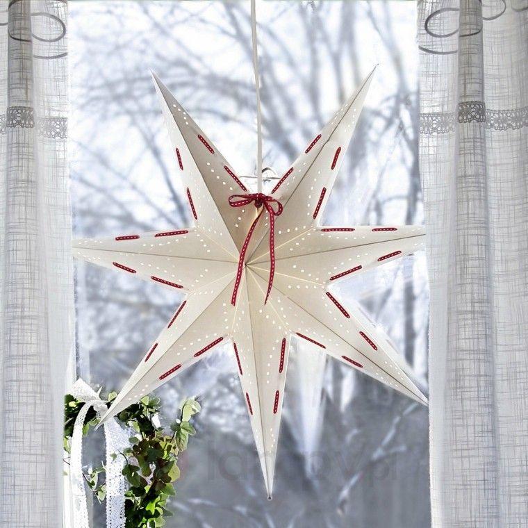 Estrellas De Navidad Para Decorar.Decoracion Navidena Ventanas Con Adornos Preciosos Llego