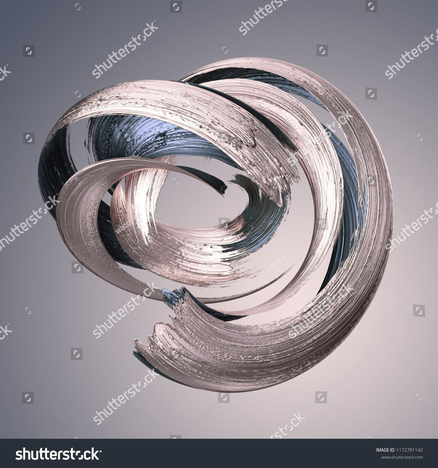 3d Render Abstract Metallic Brushstroke Silver Paint Smear Splashing Platinum Shape Rose Gold Shiny Foil Ribbon In 2020 Abstract Silver Paint Background Design