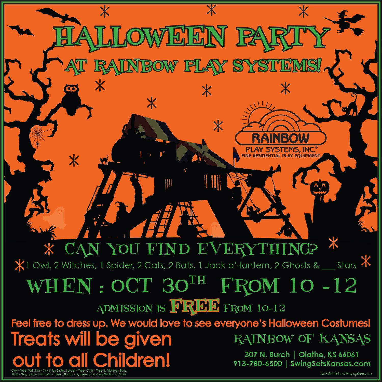 Rainbow of Kansas is having a Halloween Party!   Rainbow Showrooms ...
