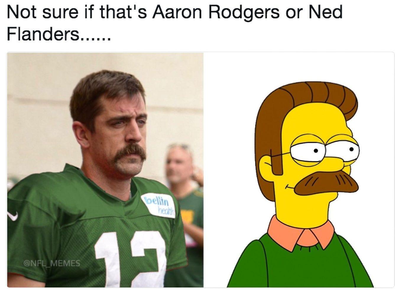 Aaron Rodgers Best Funny Memes Ironic Memes Mustache Memes Memes