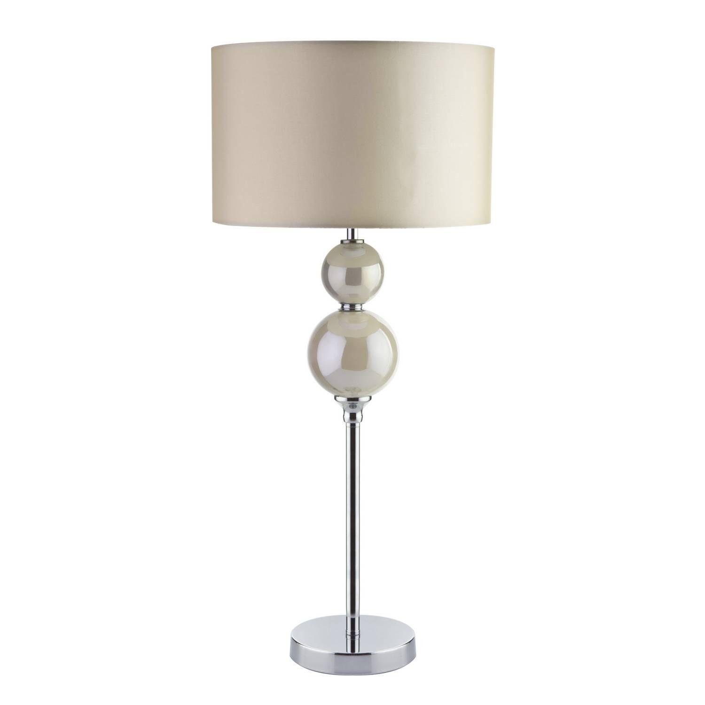 Buy pearlised 2 balls table lamp cream lighting the range buy pearlised 2 balls table lamp cream lighting the range aloadofball Choice Image