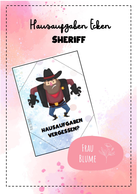 Hausaufgaben Ecken Sheriff Unterrichtsmaterial Im Fach Fachubergreifendes In 2020 Hausaufgaben Unterrichtsmaterial Lehrkraft