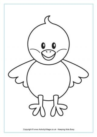 Chick Colouring Page | Easter printables + Colouring pages ...